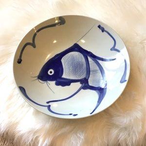BLUE & WHITE ART  FISH BOWL DECOR